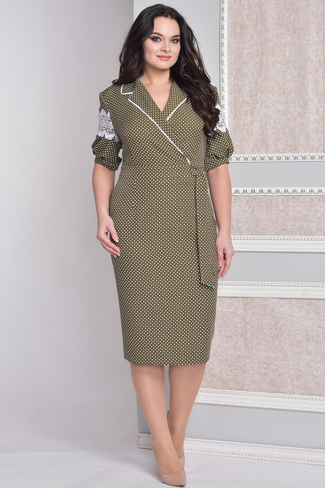 Купить Платье Moda-Versal, 1878 хаки+горохи, Беларусь