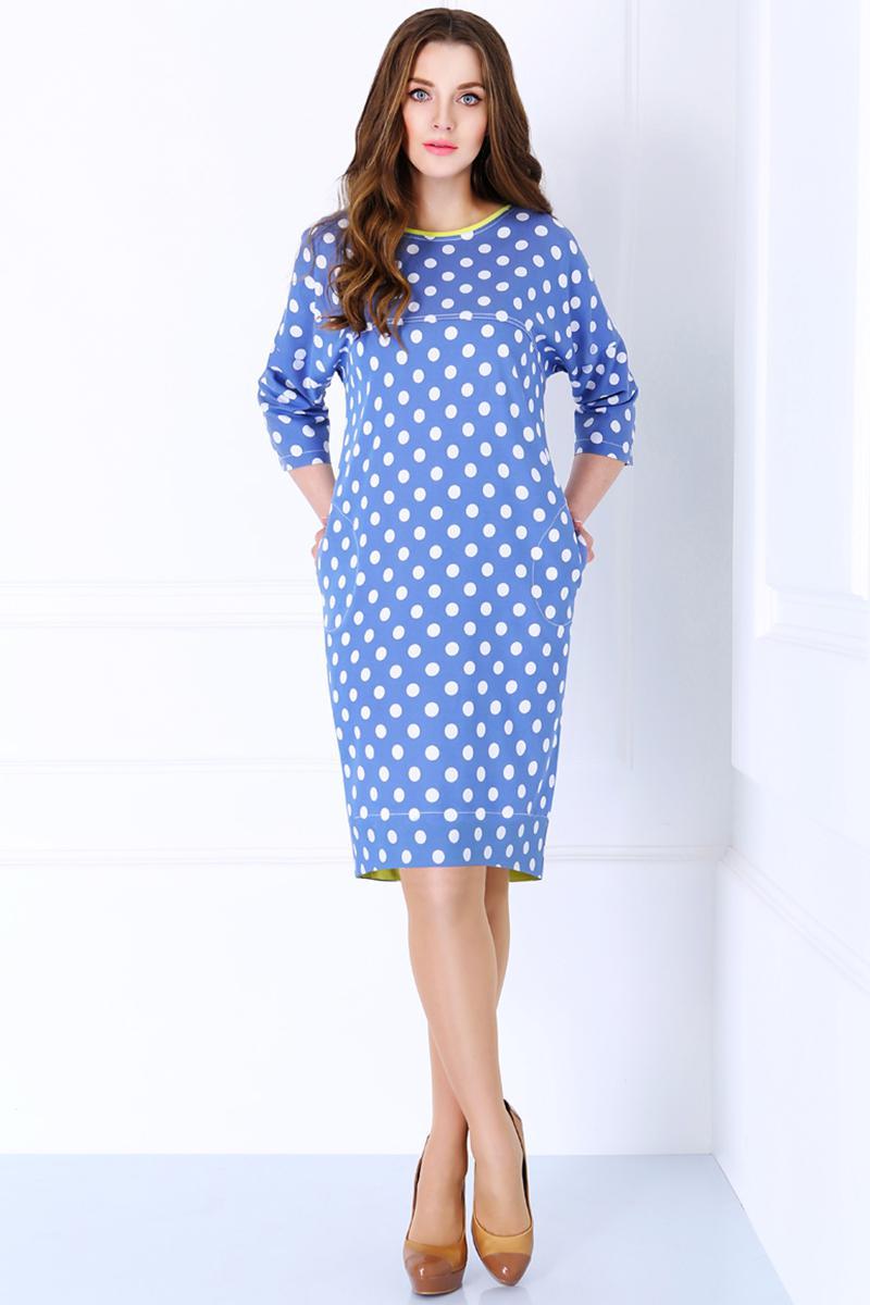 Купить Платье Matini, 3980 горохи с желто-зеленым, Беларусь