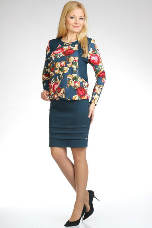 Купить Платье Дали, 1294 синий, Беларусь