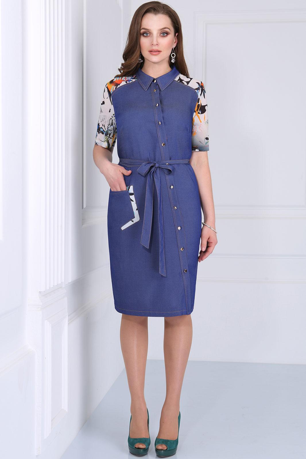 Купить Платье Matini, 31086 с цветами, Беларусь