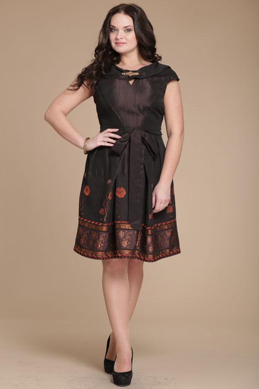 Купить Платье Юрс, 14-480 коричнево-терракотовый, Беларусь