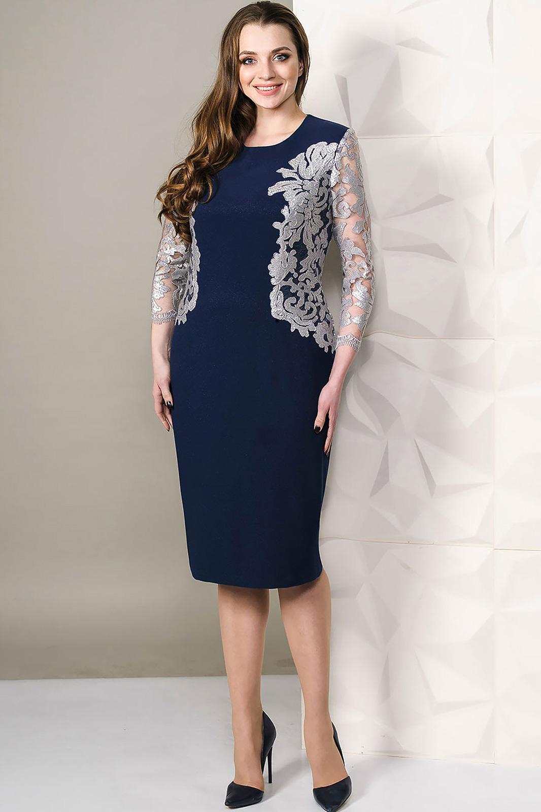 Купить Платье Golden Valley, 4451 тёмно-синий с белым, Беларусь