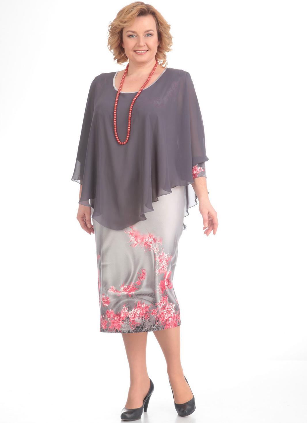 6dab1afe5 Платье Pretty, серый (модель 128) — Белорусский трикотаж в интернет ...