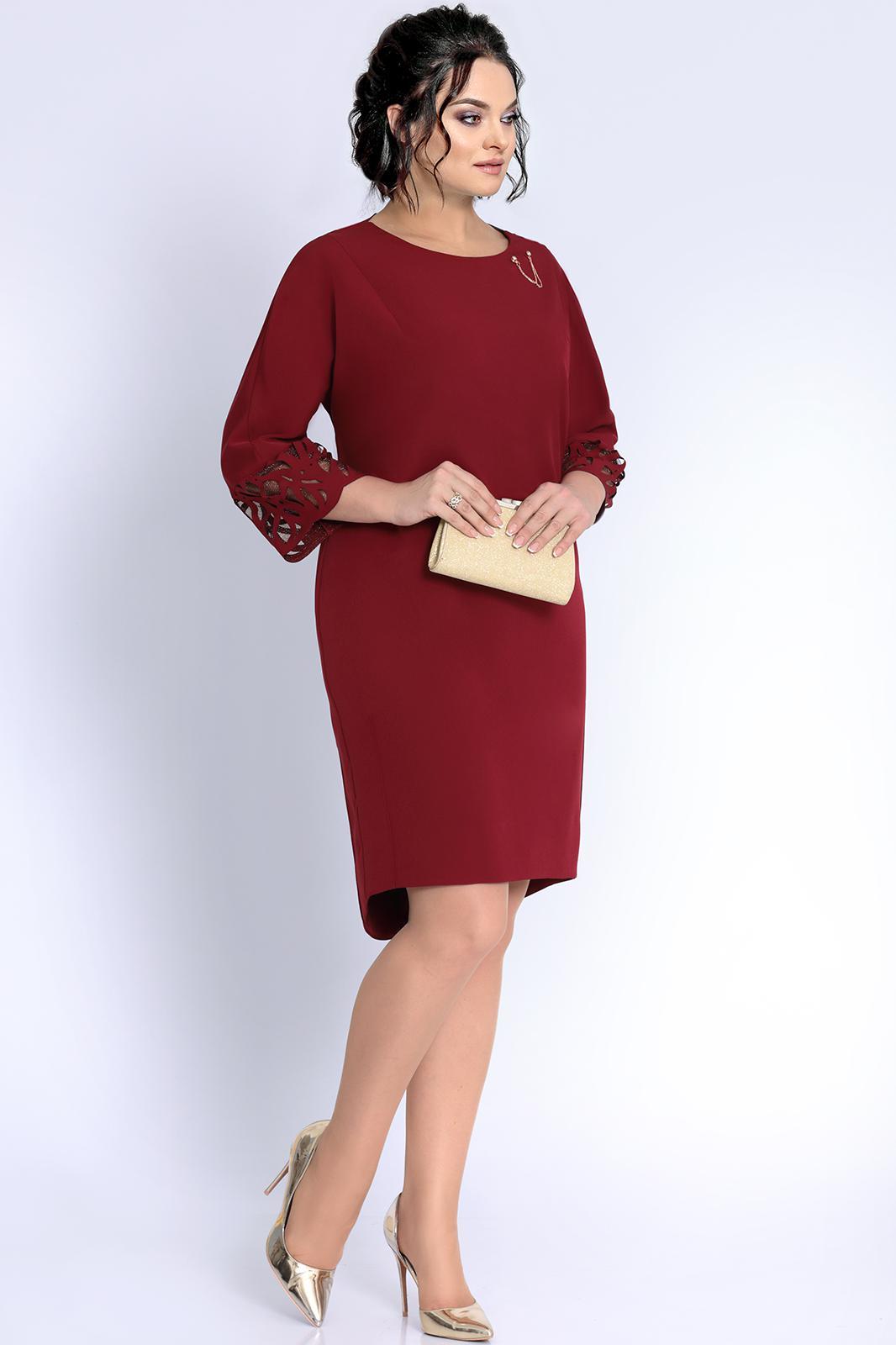 Купить Платье Джерси, 1754 бордовый, Беларусь