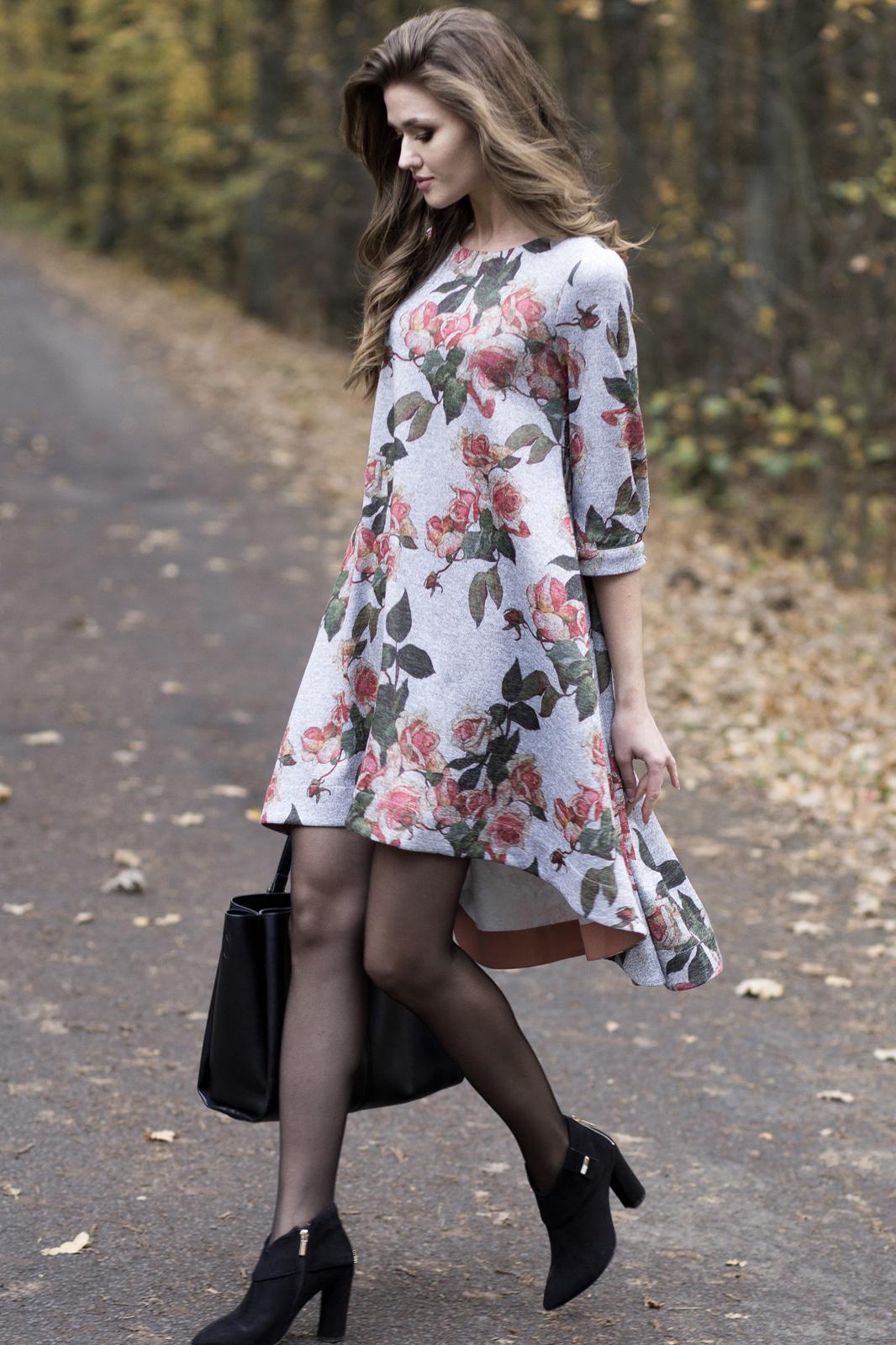 Купить Платье Juanta, 2455 серый с красным., Беларусь