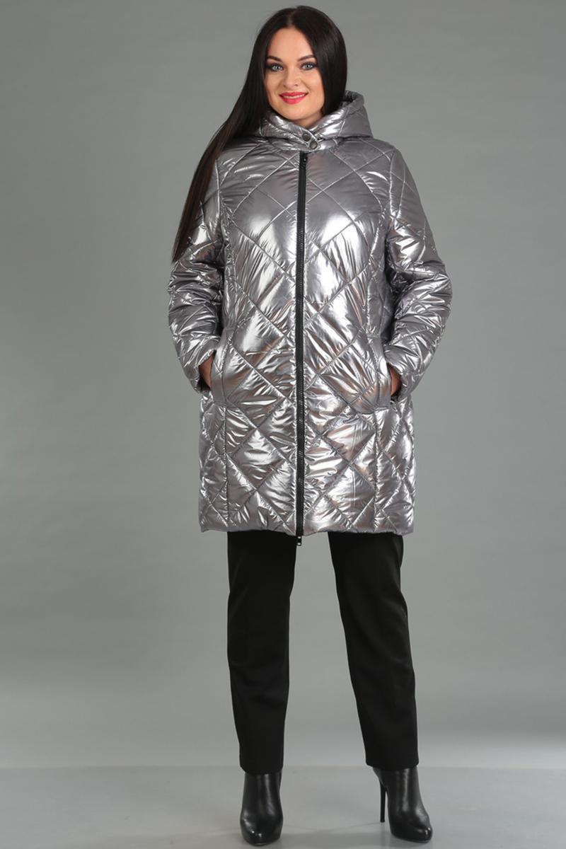 Купить Пальто Ива, 1034 серебристый, Беларусь