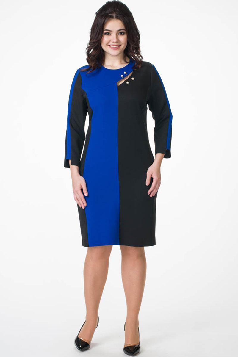 Купить Платье Melissena, 854 синий+чёрный, Беларусь