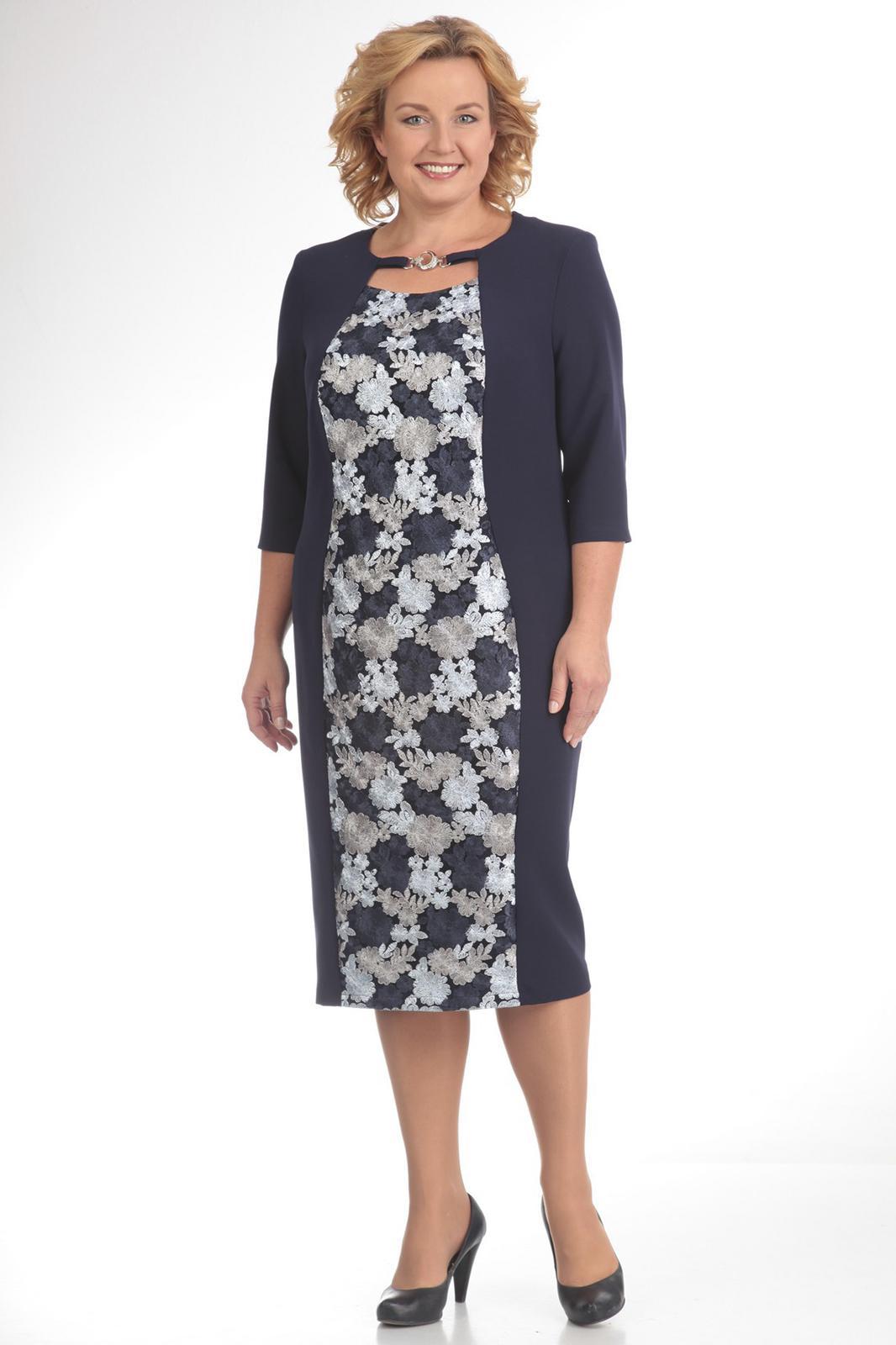 Купить Платье Pretty, 476 темно-синий, Беларусь