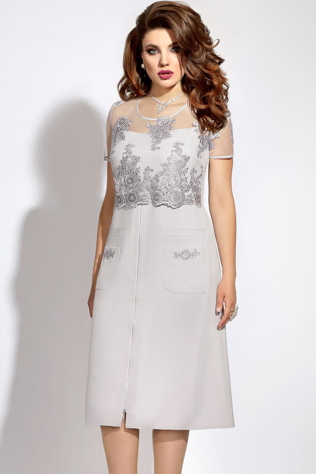 Купить Платье Vittoria Queen, 6073 светло-серый, Беларусь