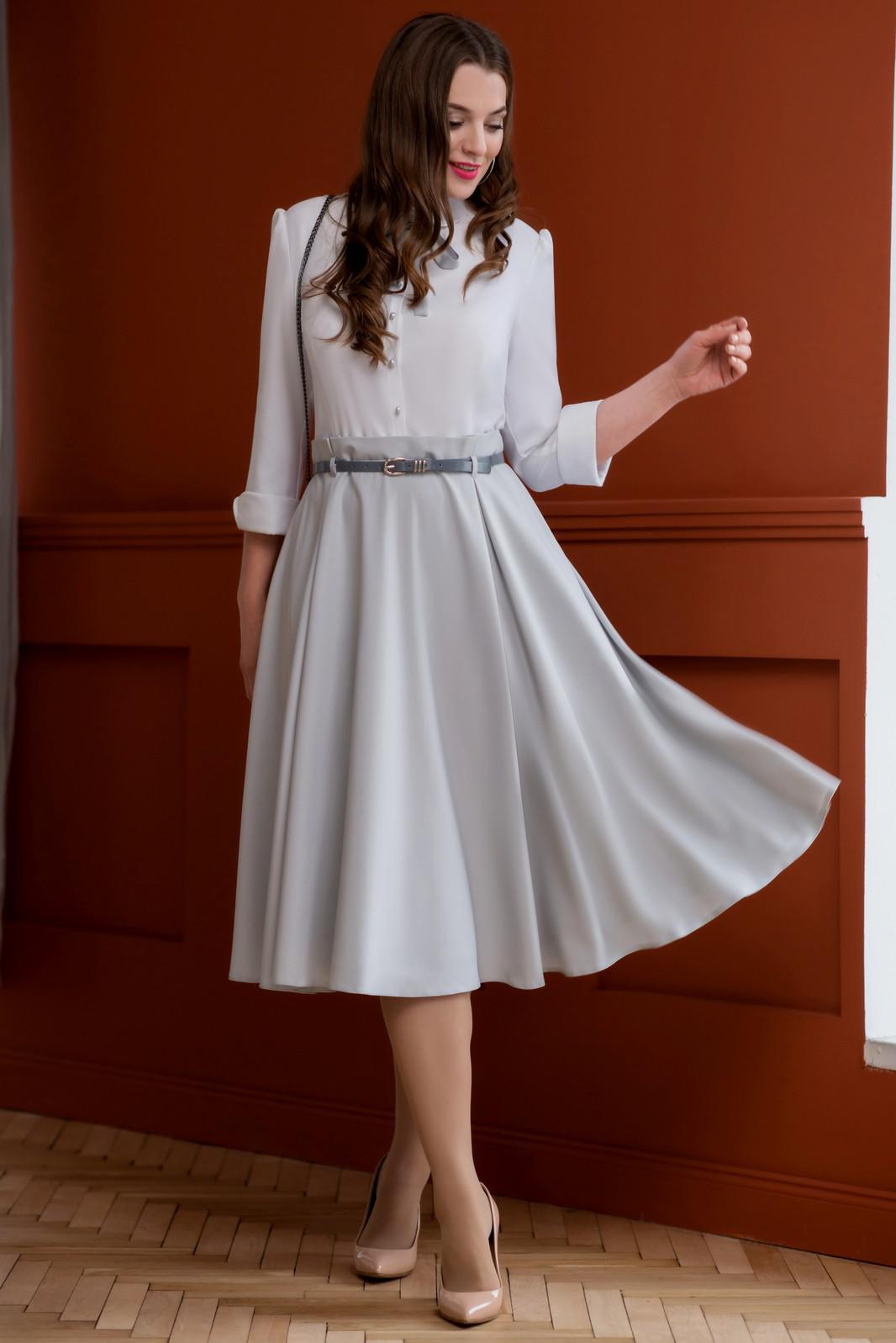 Купить Платье Юрс, 17-751 белый с серым, Беларусь
