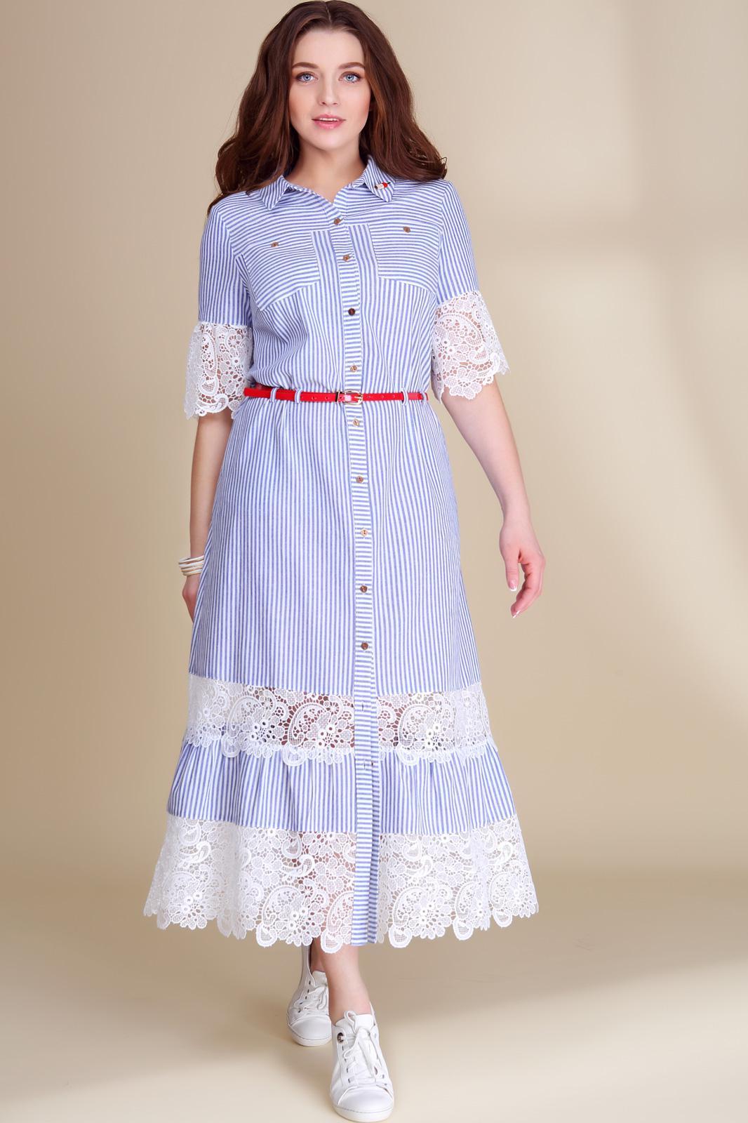 Белорусские платья голубое