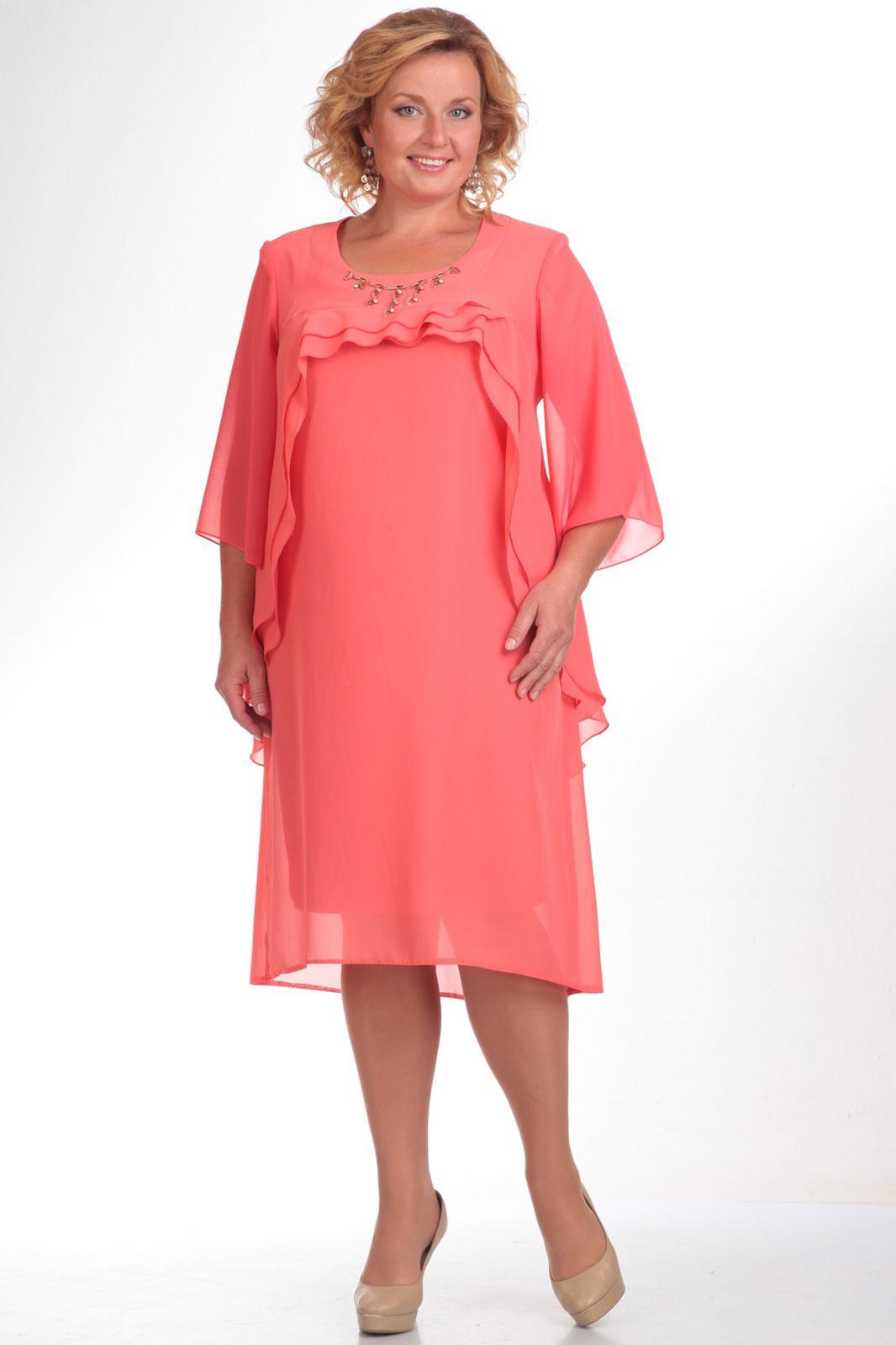 Купить Платье Pretty, 336 коралловый, Беларусь