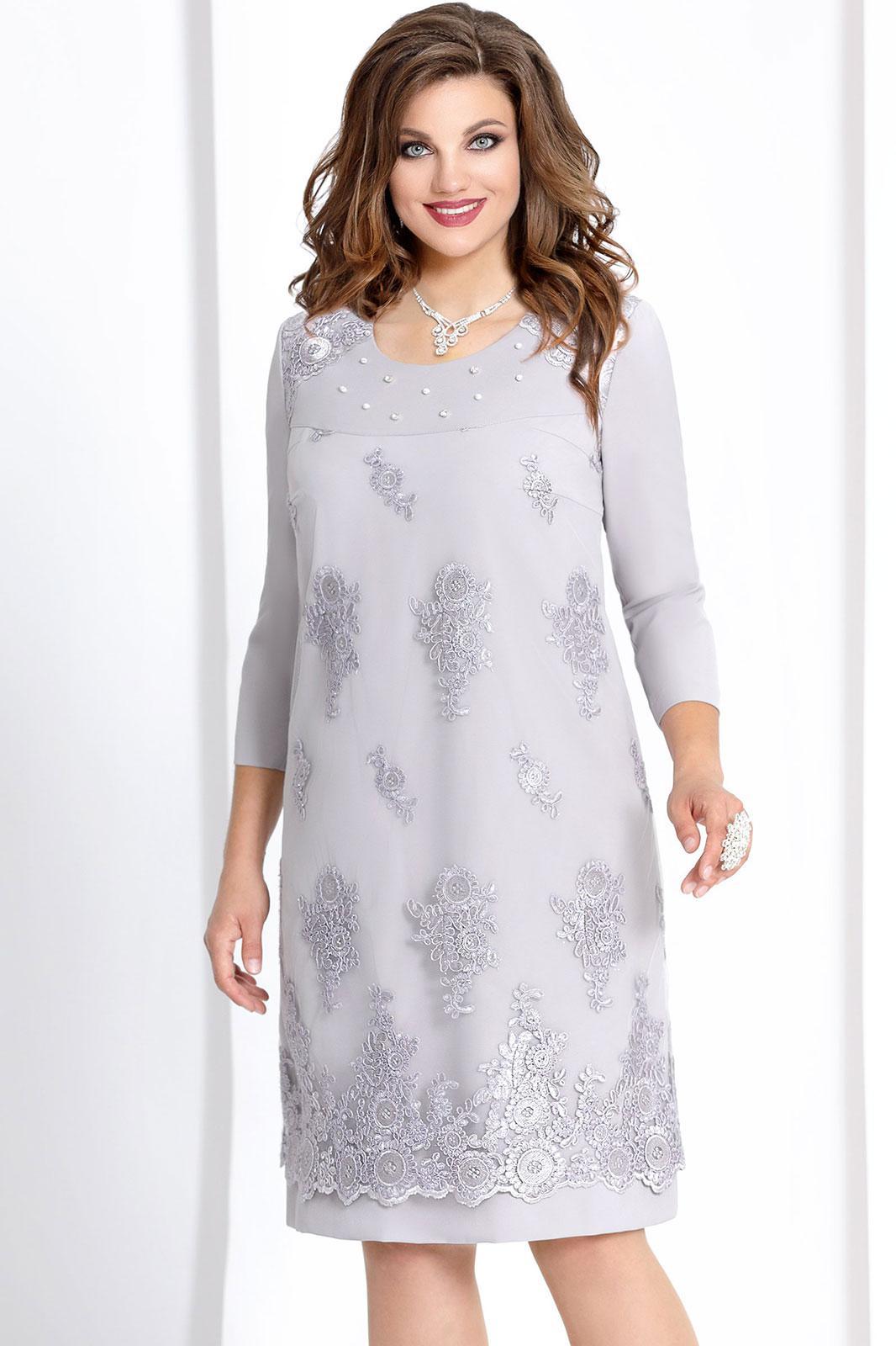 Купить Платье Vittoria Queen, 6603 светло-серый, Беларусь