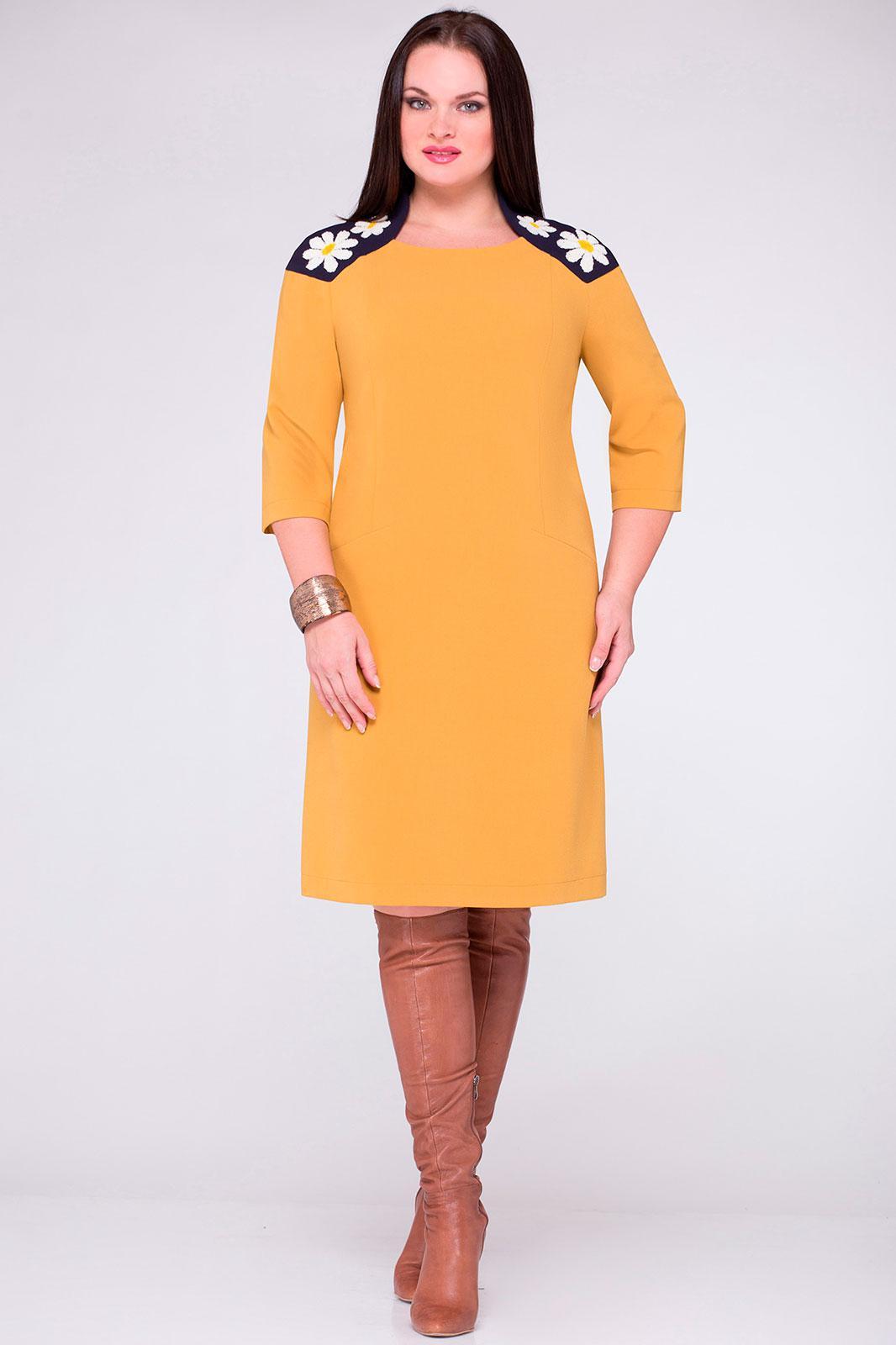 Купить Платье Надин-Н, 1233 горчица, Беларусь