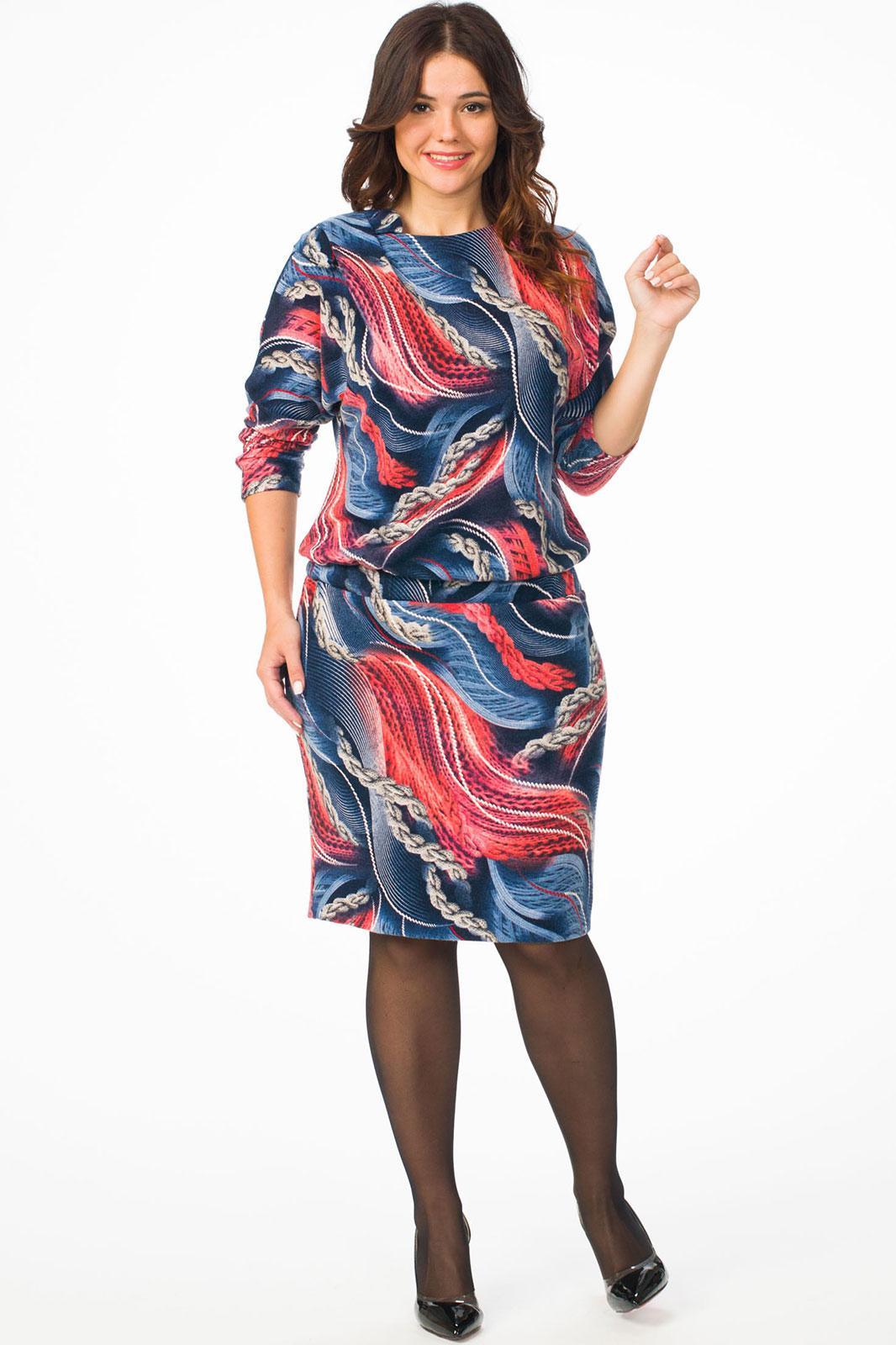 Купить Платье Melissena, 821 синий с цветами, Беларусь