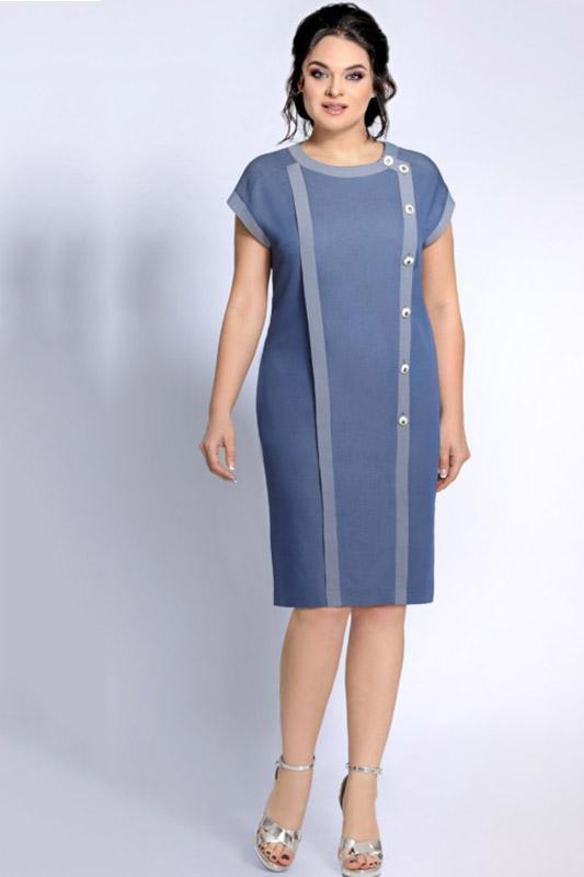 Купить Платье Джерси, 1692 серо-голубой, Беларусь