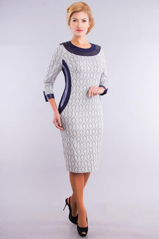 Купить Платье Дали, 528 серый с синим, Беларусь