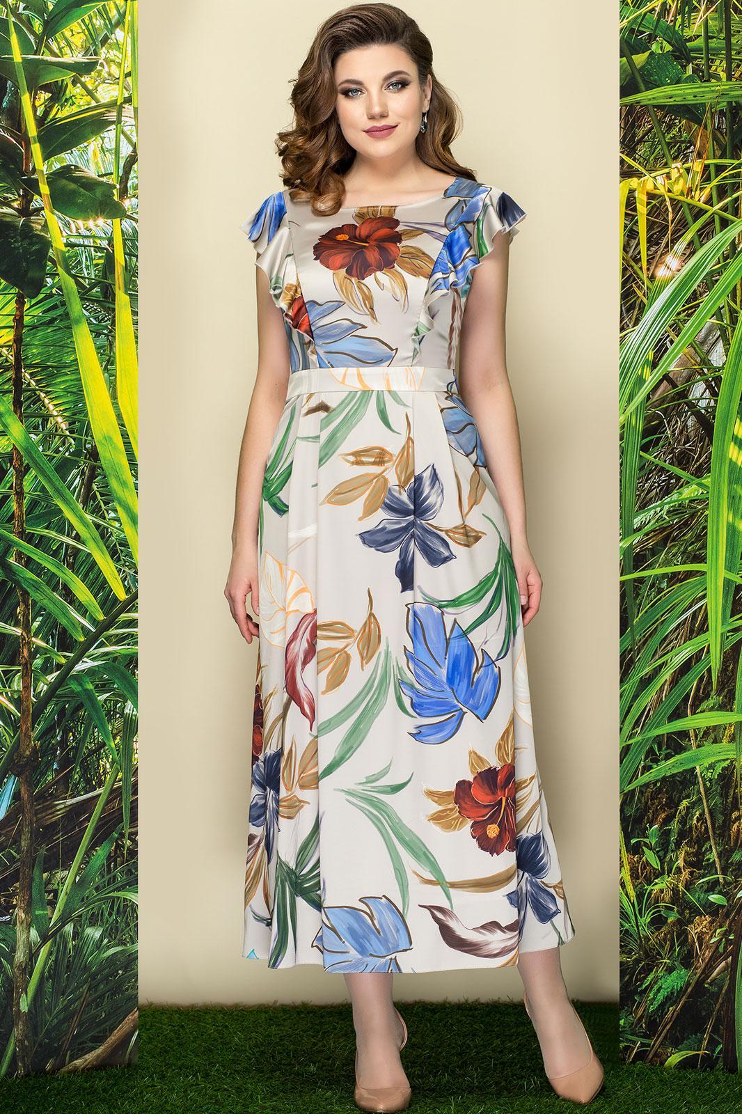 Купить Платье Эледи, 2781-1 цветы на светлом, Беларусь