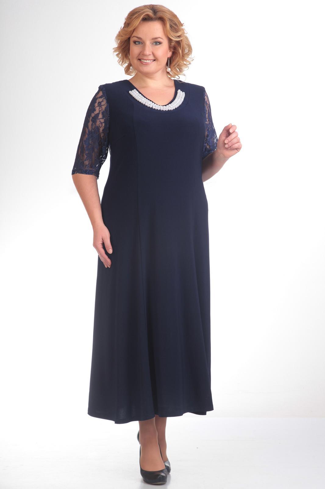 Купить Платье Pretty, 395 темно-синий, Беларусь