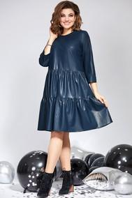 Модель 822 синяя кожа Милора-стиль