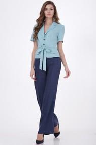 Модель 1169 голубой жакет, синие брюки Verita
