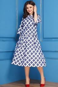 Модель 266 синий с белым Anastasia