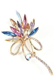 Модель Брошь 5825 золотой с разноцветным Fashion Jewelry
