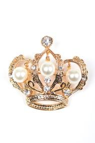 Модель Брошь Корона Золотистый Fashion Jewelry