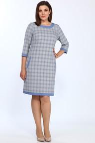 Модель 1427/6 Синий с серым Клетка Lady Style Classic