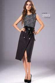 Модель 2923 черный с белым Niv Niv Fashion