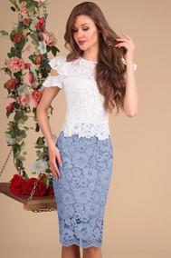 Модель 13399 белый+голубой Sandyna