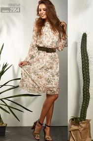 Модель 2954 розовые тона в цвветы Niv Niv Fashion