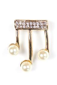 Модель Брошь 117013 золото+белый Fashion Jewelry