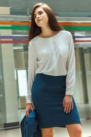 Модель Бл-077 белый new Talia fashion