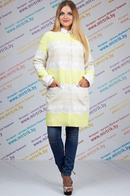 Модель 420 бело-желтый SVT-fashion