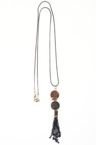 Модель Подвеска 1712 золото+черный Fashion Jewelry