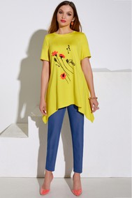 Модель 4075 желтый+джинс Lissana