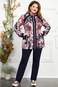 Модель 2731-9 цветы+красный Mira Fashion