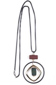 Модель Подвеска 4550В-04 черный+зеленый+бордо Fashion Jewelry
