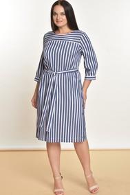 Модель 1325 Белый+голубой,  полоска Lady Style Classic