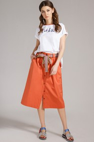 Модель 1607 белый, оранжевый Магия Моды