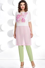 Модель 221 салат+розовый+белый Мублиз