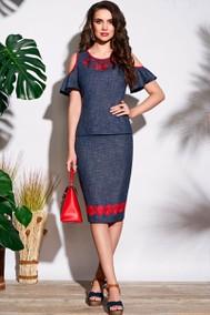 Модель 3697 синий+красный Lissana