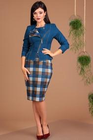 Модель 2091-1 синий+коричневый Мода-Юрс