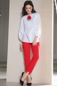 Модель 455 белый+красный Lokka