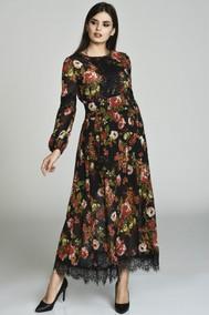 Модель 1161 черный+цветы Svetlana Style