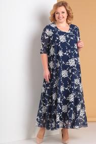 Модель 3176-С-2 темно-синий+цветы Альгранда