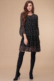 Модель 1374 черный+цветы Svetlana Style