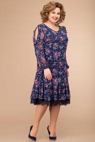 Модель 1177 синий+цветы Svetlana Style