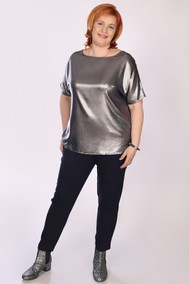 Модель 104 Блузка – серебро; брюки – тёмно-синий Marika